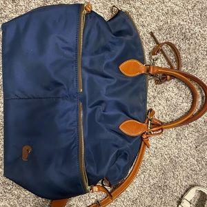 Dooney & Bourke nylon bag with leather straps